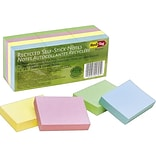 Redi-Tag Standard Notes, 1 1/2 x 2 Assorted Pastels, 100 Sheets/Pad, 12 Pads/Pack (25701)