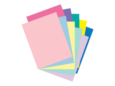 "Pacon Array Pastel/Bright Jumbo Pack Cardstock Paper, 65 lbs, 8.5"" x 11"" (US letter), Assorted Colors, 250/Pack (101195)"