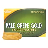 Alliance Pale Crepe Gold Multi-Purpose Rubber Bands, #64, 1 lb. Box, 490/Box (20645)