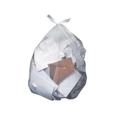 Heritage 50-56 Gallon Trash Bags, 43x48, Low Density, 2 Mil, Clear, 100 Bags/Box (H8648QC)