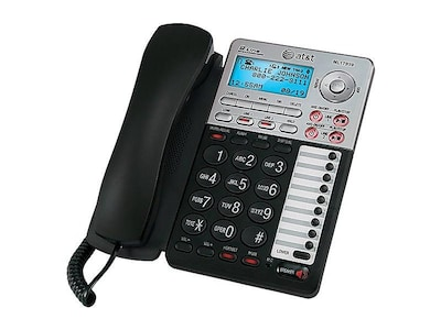 AT&T ML17939 2-Line Corded Phone, Silver/Black