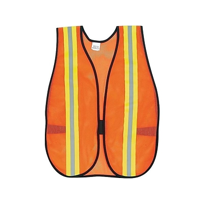 River City MCR Safety Hook & Loop Safety Vest, Non-ANSI, One Size, Orange (V201R)