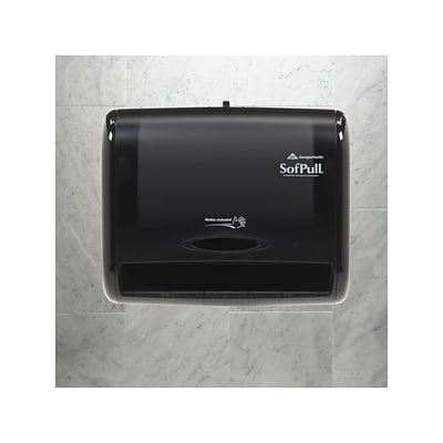 SofPull 9 Automated Touchless Hardwound Paper Towel Dispenser, Black (58470)