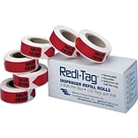 Redi-Tag Sign Here Flags, Red, 0.56 Wide, 720/Box (91002)