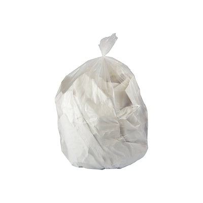 Heritage Accufit Trash Bags 55 Gallon 40x53 Low Density 09 Mil Clear 50 Box H8053TC RC1