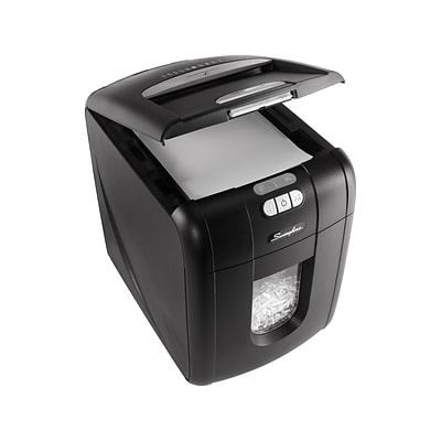 Swingline Stack-and-Shred 130X 130-Sheet Super Cross Cut Commercial Shredder (1757571D)