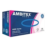 Ambitex L5201 Series Powder-Free Cream Latex Gloves, Large, 100/Box (LLG5201)