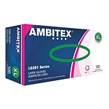 Ambitex L5201 Series Powder-Free Cream Latex Gloves, Extra Large, 100/Box (LXL5201)