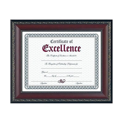 DAX World Class Wood Certificate Frame, Walnut (N3245N2T)