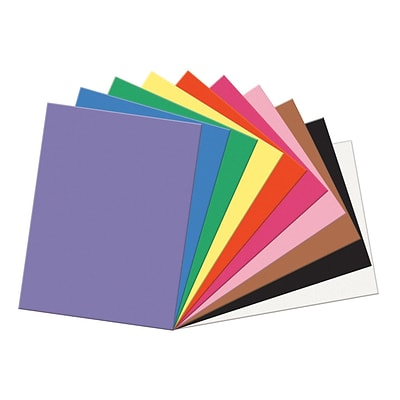 Pacon® SunWorks® Construction Paper, 18x24, Assorted Colors, 100 Sheets (PAC6518)