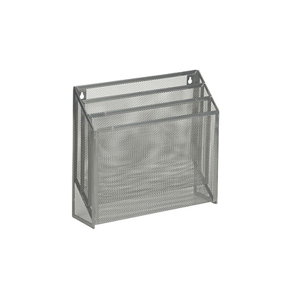 Honey-Can-Do Vertical Wire Mesh File Organizer, Gray (OFC-03305)