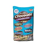 Snickers, Twix, Milky Way & 3 Musketeers Individually Wrapped Minis Size Chocolate Bars, 40 oz Varie