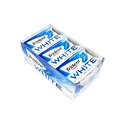 Trident White Sugar Free Peppermint Gum, 16 Pieces/Pack, 9/Pack (209-02451)
