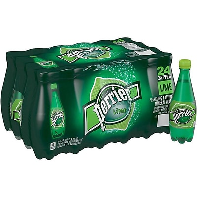 Perrier Lime Sparkling Mineral Water, 16.9 oz., 24/Carton (12283034)