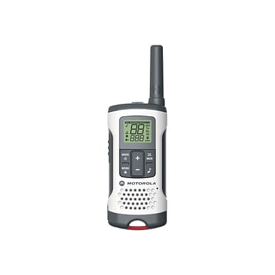 Motorola Talkabout T260TP Two Way Radios, White/Gray/Red, 3/Pack