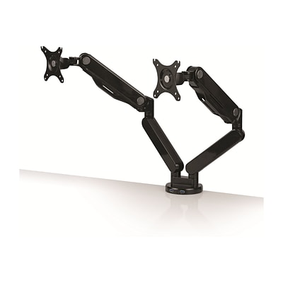 Fellowes Platinum Dual Monitor Arm, Up to 27 Monitors, Black (8042501)