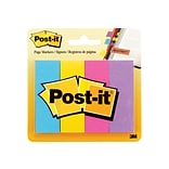 Post-it Page Markers, Assorted, 1 Wide, 200/Pack (671-4AU)