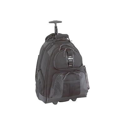 Targus Rolling Laptop Backpack, Black (TSB700)
