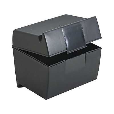 Oxford 4 x 6 Index Card Box, Black (OXF 01461)