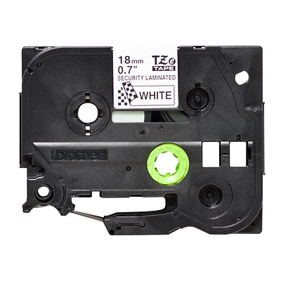 Brother TZESE4 Label Maker Tape, 0.7W, Black On White