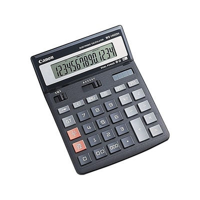 Canon WS-1400H 14-Digit Desktop Calculator, Black
