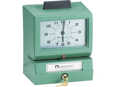 Image of Acroprint Model 125 Punch Card Time Clock System, Green (01-1070-400)