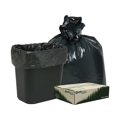Webster Earthsense 7 10 Gallon Commercial Recycled Trash Bags Black 500 Carton Rnw2410 538892