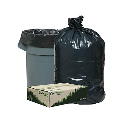 Webster Earthsense 40-45 Gallon Commercial Recycled Trash Bags, Black, 100/Carton (RNW4850-538959)