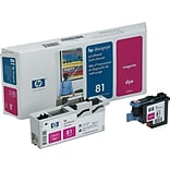 HP 81 DesignJet C4952A Printhead and Printhead Cleaner, Magenta