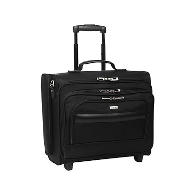 Solo Midtown Collection Columbus Laptop Rolling Briefcase, Black Polyester (B64-4)