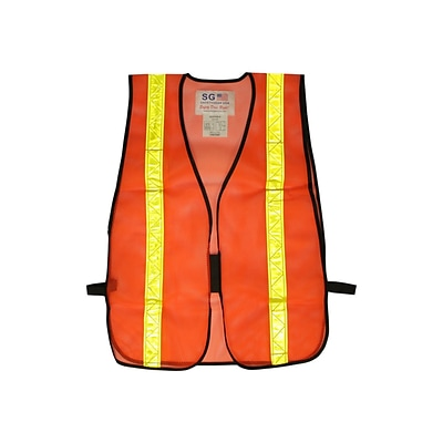 PIP Hook & Loop Safety Vest, Non-ANSI, One Size, Hi-Vis Orange (300-EVOR-POR)