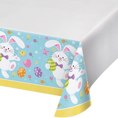 Creative Converting Easter Bunny Plastic Tablecloths, 3 Count (DTC335275TC)
