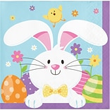 Creative Converting Easter Bunny Beverage Napkins, 48 Count (DTC335269BNAP)