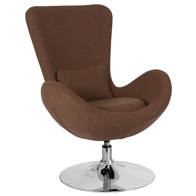 Brown Fabric Egg Series Reception-Lounge-Side Chair [CH-162430-BN-FAB-GG]
