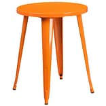 24 Round Orange Metal Indoor-Outdoor Table [CH-51080-29-OR-GG]