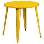 30 Round Yellow Metal Indoor-Outdoor Table [CH-51090-29-YL-GG]