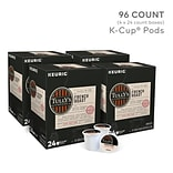 Tullys French Roast Coffee, Keurig® K-Cup® Pods, Dark Roast, 96/Carton (700285)