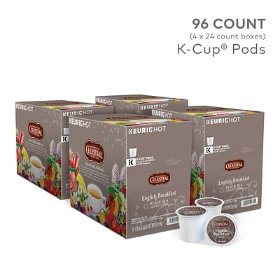 Celestial Seasonings English Breakfast Tea, Keurig K-Cup Pods, 96/Carton (14731)