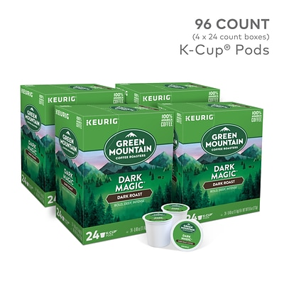 Green Mountain Dark Magic Coffee, Keurig® K-Cup® Pods, Dark Roast, 96/Carton (4061)