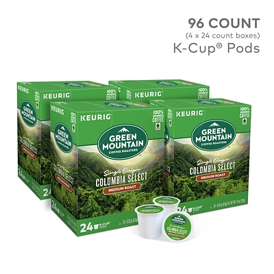 Green Mountain Coffee Roasters Colombia Select Coffee, Keurig® K-Cup® Pods, Medium Roast, 96/Carton (6003)