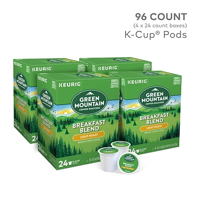 Green Mountain Breakfast Blend Coffee, Keurig® K-Cup® Pods, Light Roast, 96/Carton (6520)