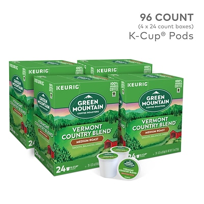 Green Mountain Vermont Country Blend Coffee, Keurig® K-Cup® Pods, Medium Roast, 96/Carton (GMT6602CT)