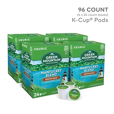 Green Mountain Nantucket Blend Coffee, Keurig® K-Cup® Pods, Medium Roast, 96/Carton (6663)