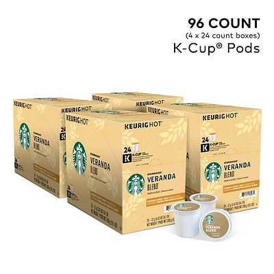 Starbucks Veranda Blend Coffee, Keurig® K-Cup® Pods, Light Roast, 96/Carton (9577)