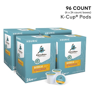 Caribou Coffee Daybreak Morning Blend Coffee, Keurig® K-Cup® Pods, Light Roast, 96/Carton (6994)