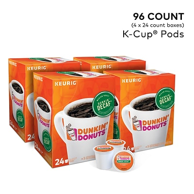 Dunkin Donuts Dunkin Decaf Coffee, Keurig® K-Cup® Pods, Medium Roast, 96/Carton (400846)