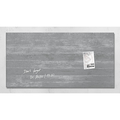 Sigel 36 x 18 Contemporary Magnetic Glass Board, Concrete