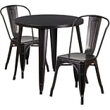 Flash Furniture Black-Antique Gold Indoor Outdoor Sets (CH519TH218CBQ)