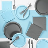 Creative Converting Gray and Pastel Blue Party Supplies Kit (DTCPBGRY2A)