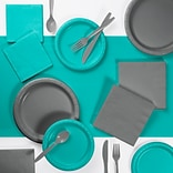 Creative Converting Gray and Teal Party Supplies Kit (DTCTLGRY2A)